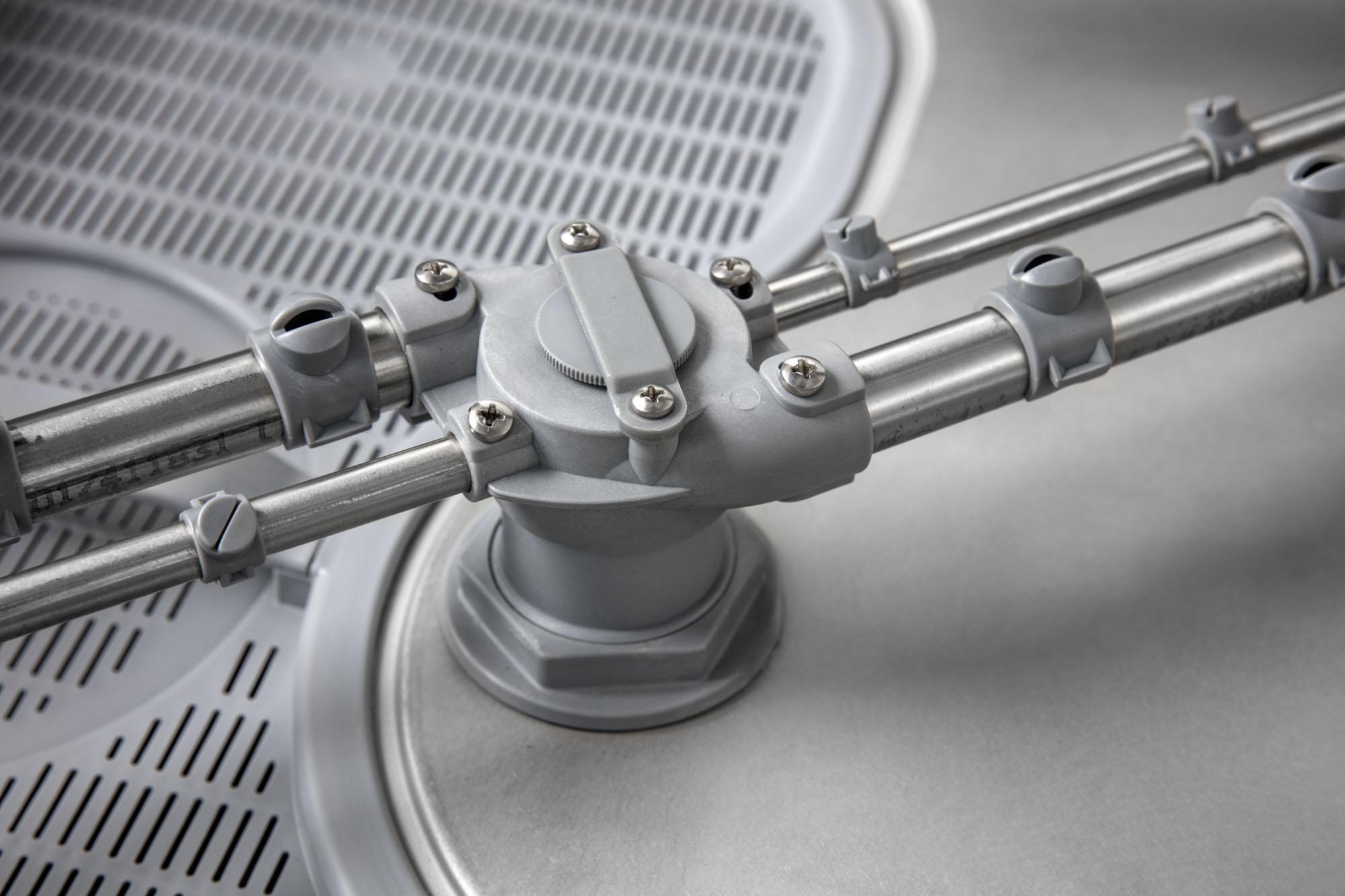 lavastoviglie professionale con bracci di lavaggio in acciaio project system italia
